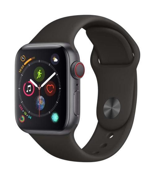 Fnac.com : Apple Watch Series 4 Cellular 40 mm Boîtier en Acier inoxydable Noir sidéral avec Bracelet Sport Noir - Montre connectée.