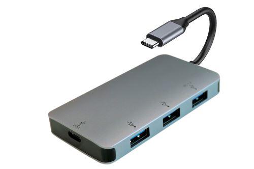 Hub USB Type C 4-en-1 Itworks Gris