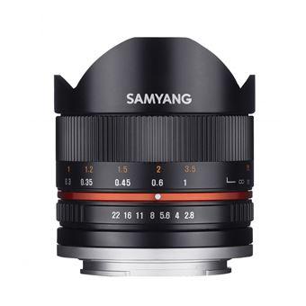 Samyang 8mm f/2.8 UMC Fisheye II Lens Zwart voor Sony E