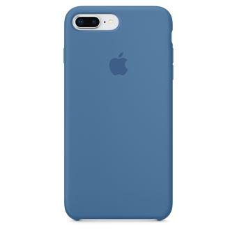 Coque en silicone Apple Bleu jean pour iPhone 7 Plus et 8 Plus