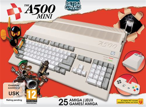 Console Retro Games Ltd The Amiga 500 Mini Blanc
