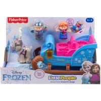 Jeu d'éveil Fisher Price La Reine des Neiges Le traîneau de Kristoff avec 2 figurines et un renne
