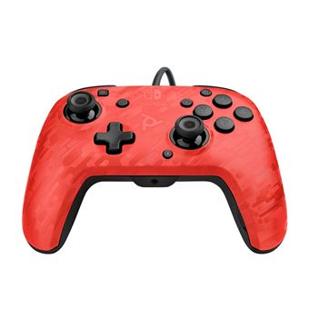 new high official store outlet for sale Manette audio Nintendo Switch PDP Faceoff Deluxe+ Rouge Camouflage