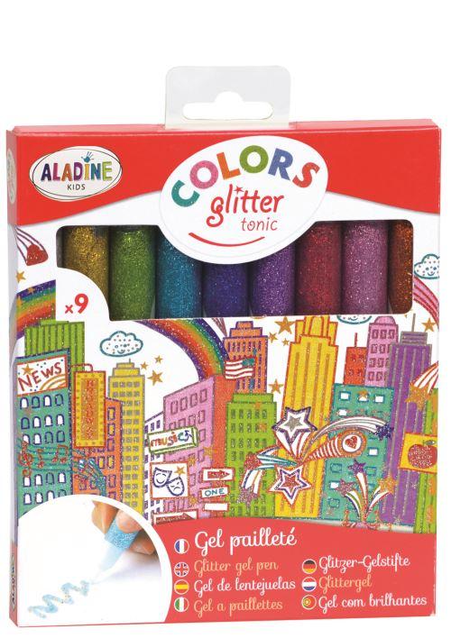 Kit Aladine de 9 Crayons Tonic de gel pailleté