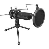 Microphone TRUST Gaming MANTIS GXT 232 pour streaming, podcasts, vlogs  Noir