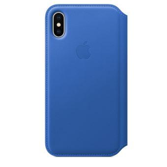 APPLE IPHONE X LEATHER FOLIO ELECTRIC BLUE