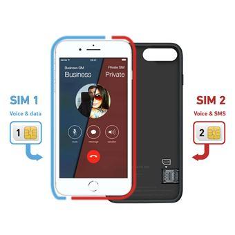 5% sur Etui SBS Second SIM Case Noir pour iPhone 8 Plus f3e5c52992