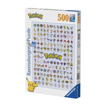 Puzzle 500 pièces Pokémon Pokédex première génération Ravensburger