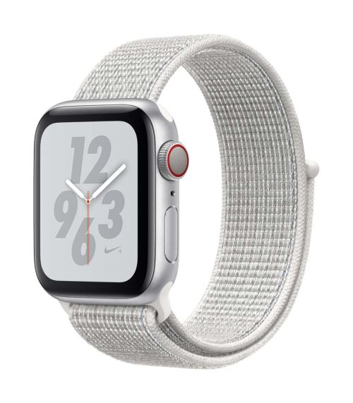 Apple Watch Series 4 Nike+ Cellular 40 mm Boîtier en Aluminium Argent avec Boucle Sport Nike Blanc polaire - Montre connectée. Remise permanente de 5% pour les adhérents. Commandez vos produits high-tech au meilleur prix en ligne et retirez-les en magasin
