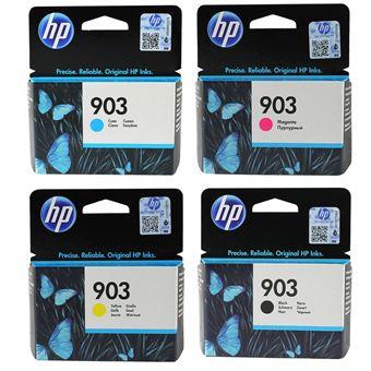 Pack de 4 cartouches d'encre HP 903 Cyan, Magenta, Jaune et Noir