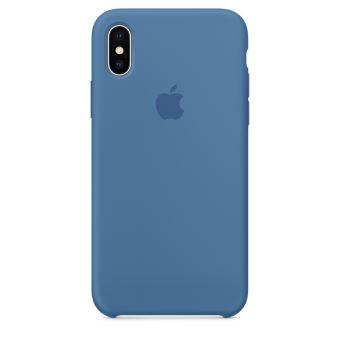 Coque en silicone Apple Bleu jean pour iPhone X