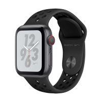 Apple Watch Series 4 Nike+ Cellular 40 mm Boîtier en Aluminium Gris sidéral avec Bracelet Sport Nike Anthracite et Noir