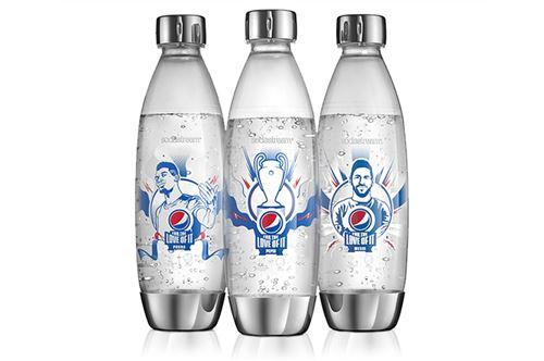 Lot de 3 bouteilles Sodastream UEFA Argent