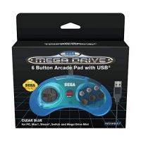 Manette Retro-bit Sega Megadrive 6 USB Mini Bleu