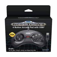 Manette Retro-bit Sega Megadrive 6 USB Mini Noir