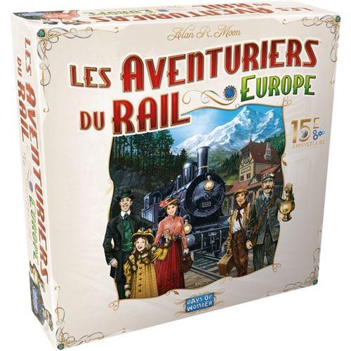 Jeu de stratégie Asmodee Les Aventuriers du Rail Europe 15ème Edition Anniversaire