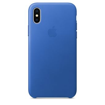 APPLE IPHONE X LEATHER CASE ELECTRIC BLUE