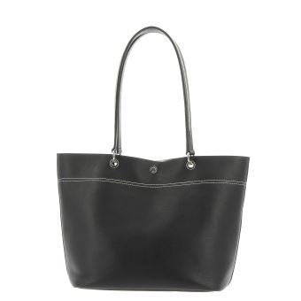 46f42ed781 Sac cabas porté épaule pour femme Le Tanneur Marianne Grand modèle Noir