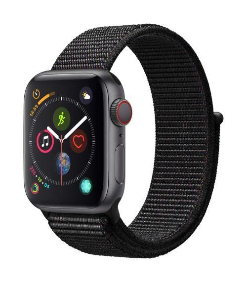 Apple Watch Series 4 Cellular 40 mm Boîtier en Aluminium Gris sidéral avec Boucle Sport Noir - Montre connectée. Remise permanente de 5% pour les adhérents. Commandez vos produits high-tech au meilleur prix en ligne et retirez-les en magasin.