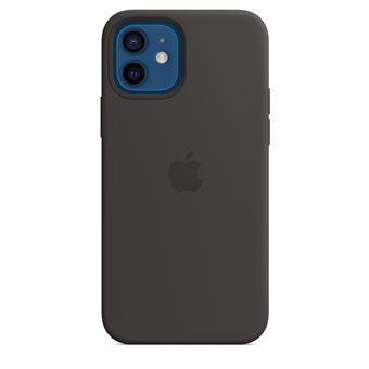 Coque en silicone Apple MagSafe pour iPhone 12 et 12 Pro Noir