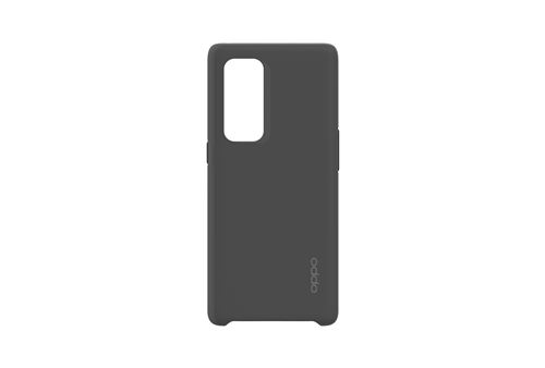Coque silicone Kevlar pour smartphone Oppo Find X3 Neo Noir