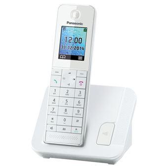 4ef90d112bf841 5% sur Téléphone Fixe sans fil Panasonic KX-TGH210FRW Blanc ...