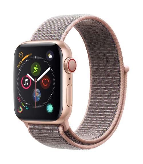 Apple Watch Series 4 Cellular 40 mm Boîtier en Aluminium Or avec Boucle Sport Rose des sables - Montre connectée. Remise permanente de 5% pour les adhérents. Commandez vos produits high-tech au meilleur prix en ligne et retirez-les en magasin.