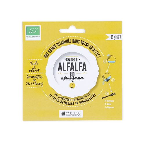 Graines d'alfalfa bio à faire germer