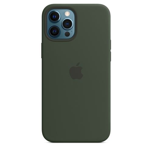 Coque en silicone Apple MagSafe pour iPhone 12 Pro Max Vert de Chypre