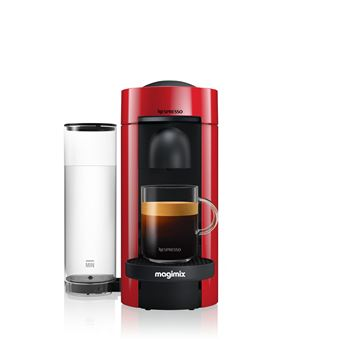 cafeti re capsules nespresso vertuo plus magimix rouge achat prix fnac. Black Bedroom Furniture Sets. Home Design Ideas