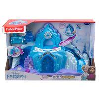 Château Fisher Price La reine des Neiges Le palais d'Elsa avec 2 figurines
