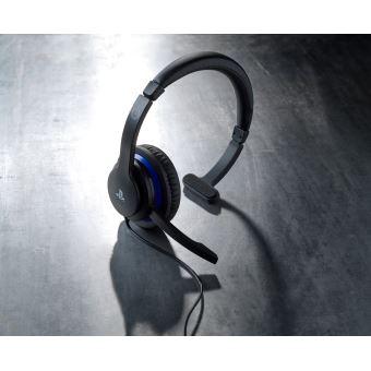 Micro Casque Mono Bigben Communicator Noir Et Bleu Pour Ps4