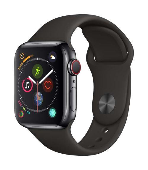 Apple Watch Series 4 Cellular 40 mm Boîtier en Aluminium Gris sidéral avec Bracelet Sport Noir - Montre connectée. Remise permanente de 5% pour les adhérents. Commandez vos produits high-tech au meilleur prix en ligne et retirez-les en magasin.
