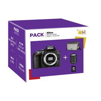 Pack Fnac Reflex Nikon D5300 + Objectif AF-S DX 18-140 mm f/3.5-5.6 VR + Fourre-tout + Carte mémoire SDHC 16 Go