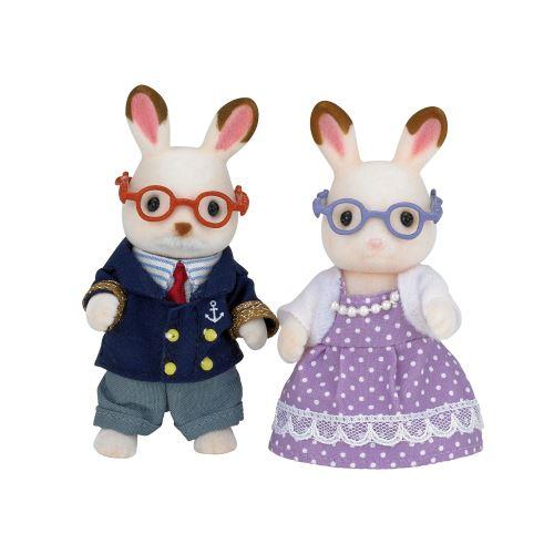Figurines Epoch D'enfance Grands parents Lapin chocolat Sylvanian Modèle aléatoire