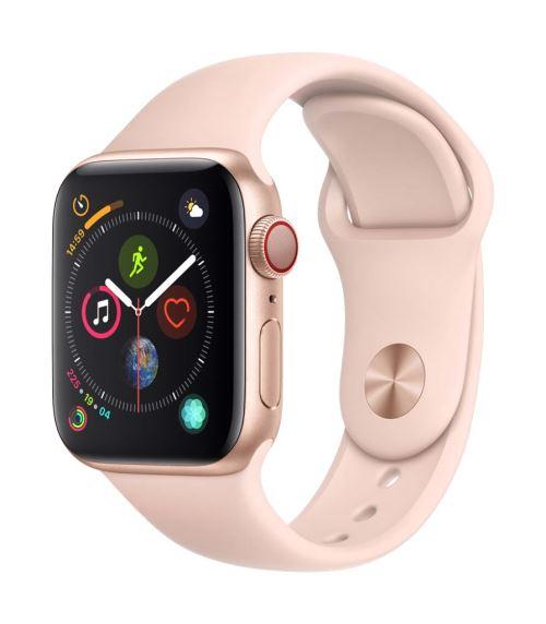 Apple Watch Series 4 Cellular 40 mm Boîtier en Aluminium Or avec Bracelet Sport Rose des sables - Montre connectée. Remise permanente de 5% pour les adhérents. Commandez vos produits high-tech au meilleur prix en ligne et retirez-les en magasin.