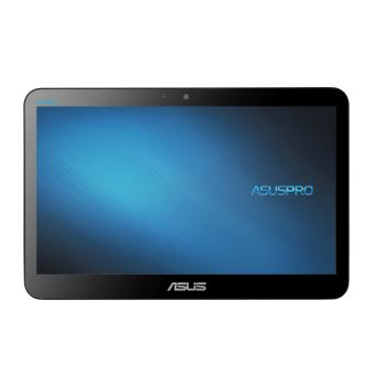 """ASUS All-in-One PC A41GAT - Alles-in-één - 1 x Celeron N4100 / 1.1 GHz - RAM 4 GB - HDD 500 GB - UHD Graphics 600 - GigE - WLAN: Bluetooth 4.0, 802.11ac - Win 10 Home 64 bits - monitor: LED 15.6"""" 1366 x 768 (HD) aanraakscherm"""