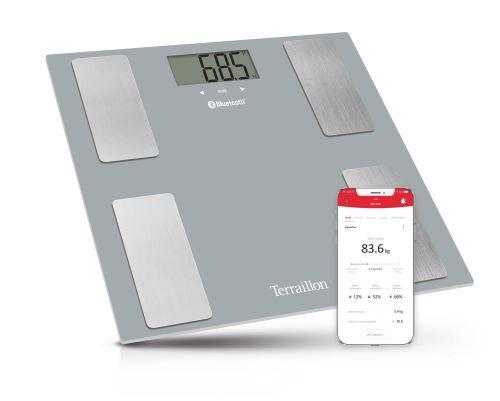Pèse personne impédancemètre connecté Terraillon Smart Connect Gris