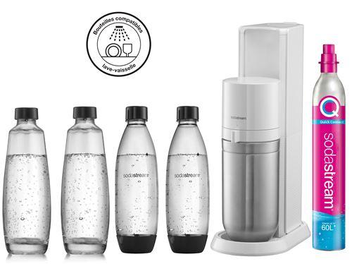 Machine à eau pétillante Sodastream DUO Blanc avec 2 carafes et 2 bouteilles Fuse