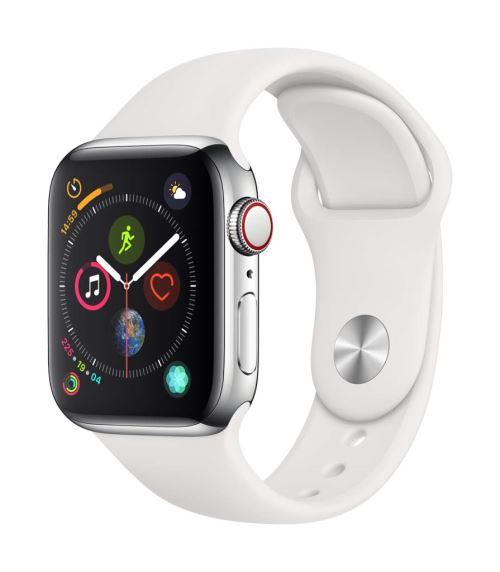 Apple Watch Series 4 Cellular 40 mm Boîtier en Aluminium Argent avec Bracelet Sport Blanc - Montre connectée. Remise permanente de 5% pour les adhérents. Commandez vos produits high-tech au meilleur prix en ligne et retirez-les en magasin.