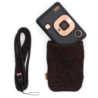 Instax Mini LiPlay Elegant Black + Draagriem + Hoes