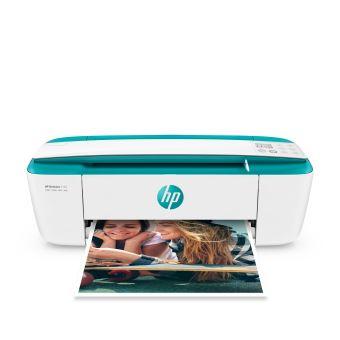 Imprimante HP DeskJet 3762 Tout-en-un WiFi Blanc et Turquoise (Eligible à Instant Ink - Imprimez gratuitement jusqu'à 15 pages / mois)