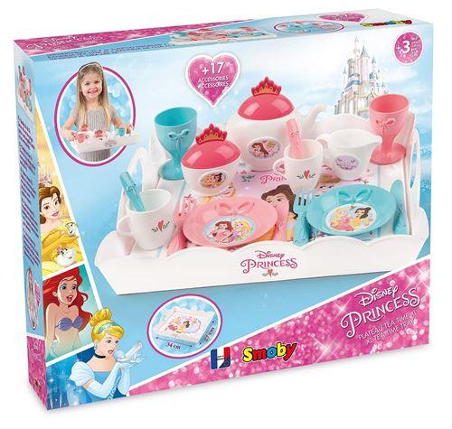 Plateau Tea Time XL Smoby Disney Princesses + 17 Accessoires