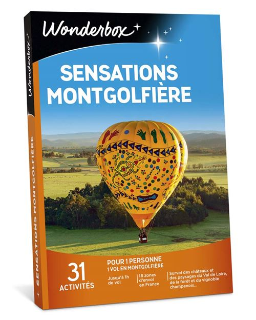 Coffret cadeau Wonderbox Sensations Montgolfière