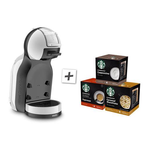 Expresso Krups Nescafé Dolce Gusto Mini Me YY3888FD 1500 W Gris avec 3 boites de capsules Starbucks
