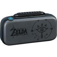 Pochette de transport BigBen Deluxe Officielle The Legend of Zelda Breath of the Wild Noir pour Nintendo Switch + 2 boîtes de rangement pour jeux + 2 boîtes de rangement pour cartes Micro SD