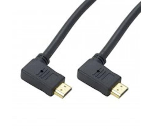 Câble HDMI 2.0 Coudé latéral 90° 2 m Erard Noir