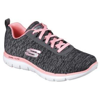 Chaussures Skechers grises Sportives femme tgxhb3xt7