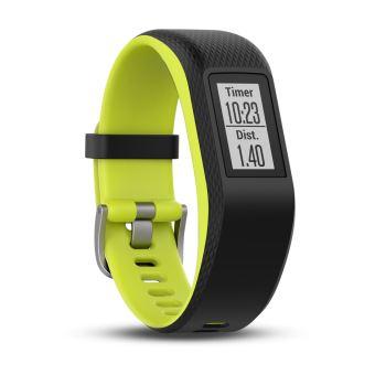 Bracelet de sport Garmin Vivosport Taille L Noir et citron vert avec GPS et cardio poignet