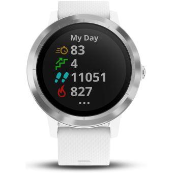 31837c7246a -30% sur Montre connectée de sport Garmin Vivoactive 3 avec GPS et cardio  poignet Argent avec Bracelet Blanc - Montre connectée - Achat   prix